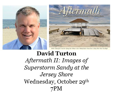 David Turton will be signing his books at BookTowne, Manasquan, New Jersey next Wednesday October 29th at 7:00 pm. Click here for more info.