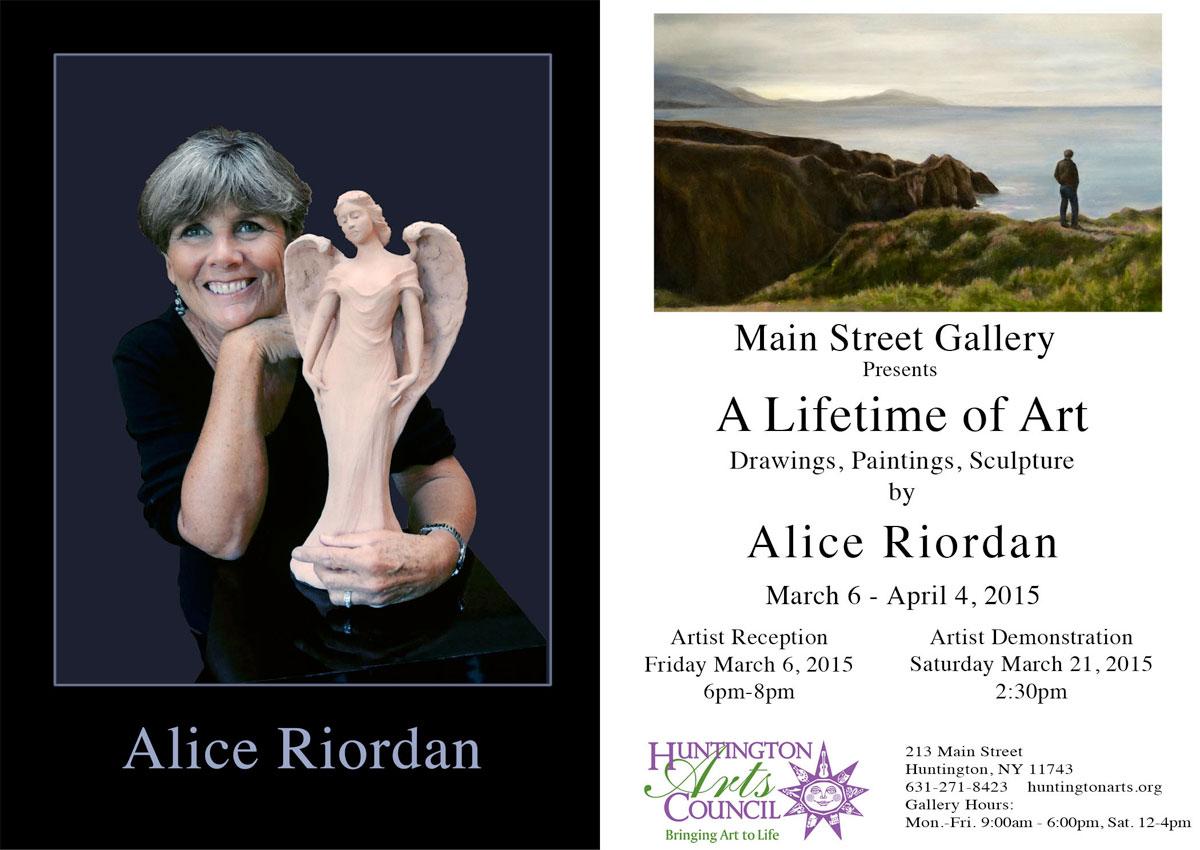 Invitation to alice riordan solo exhibition stu art supplies alice riordan a lifetime of art stopboris Choice Image
