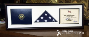 Custom framed US Capitol flag by Stu-Art Supplies