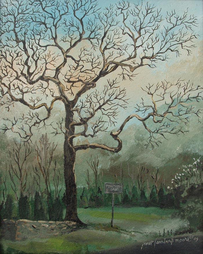 Pow Wow Oak painting by Janet Lambert-Moore