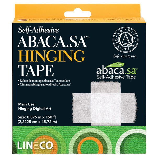 Lineco self-adhesive Abaca hinging tape @ Stu-Art Supplies