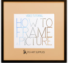 Video Tutorial How to Frame a Picture @ Stu-Art Supplies