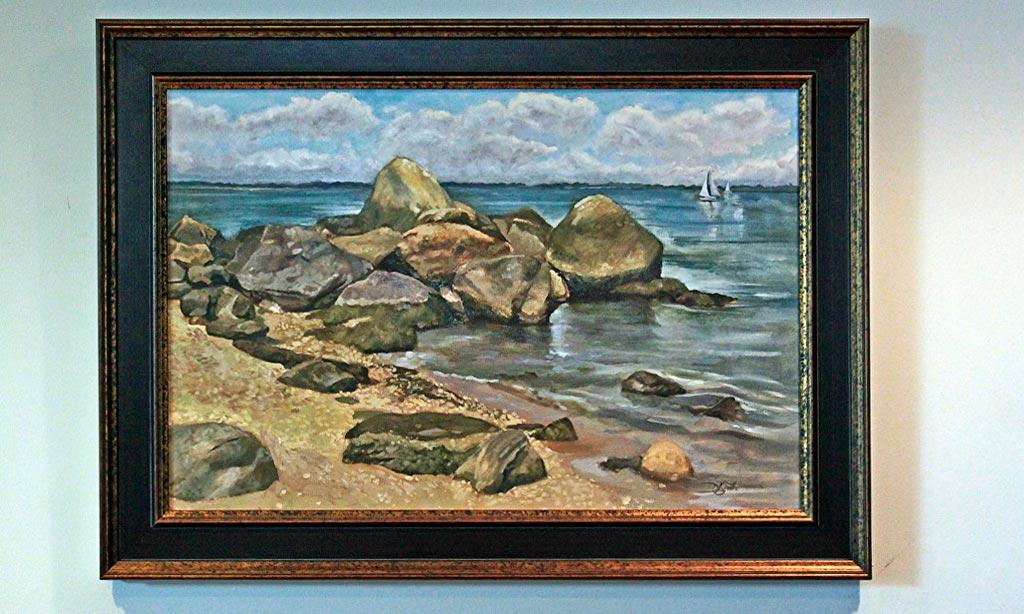 The Fishing Rocks by David Lyttleton Smith