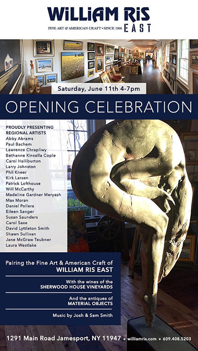 William Ris Gallery Opening invitation